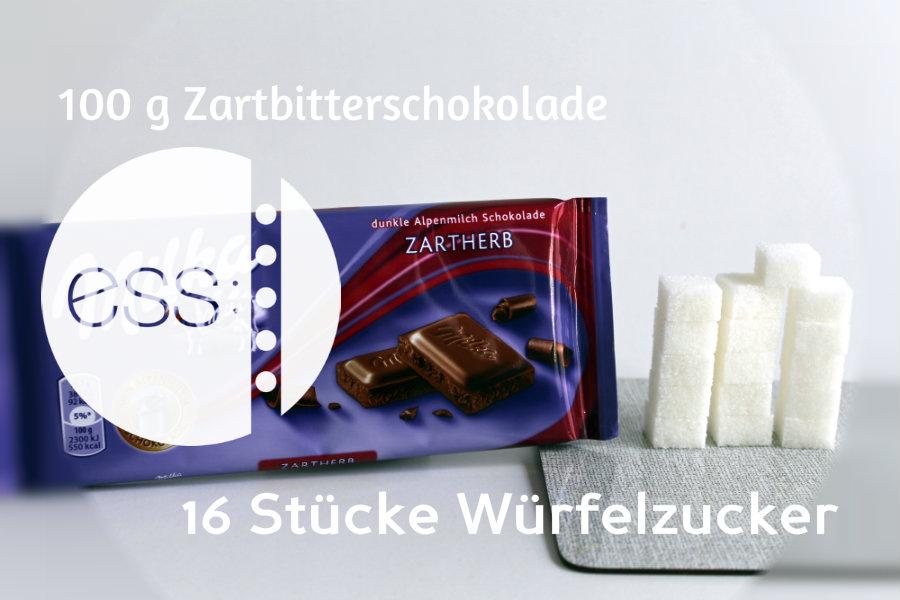 Zuckergehalt von Zartbitterschokolade